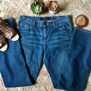 {Calvin Klein} Flare Jeans, Size 8, Dark Wash